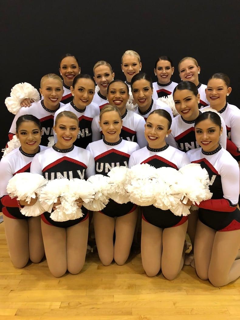 UNLV Rebel Girls Custom Pom Uniform