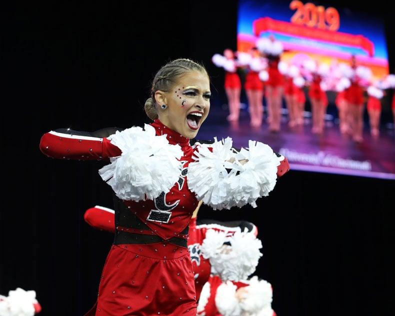 University of Cincinnati Dance Team Pom Uniform