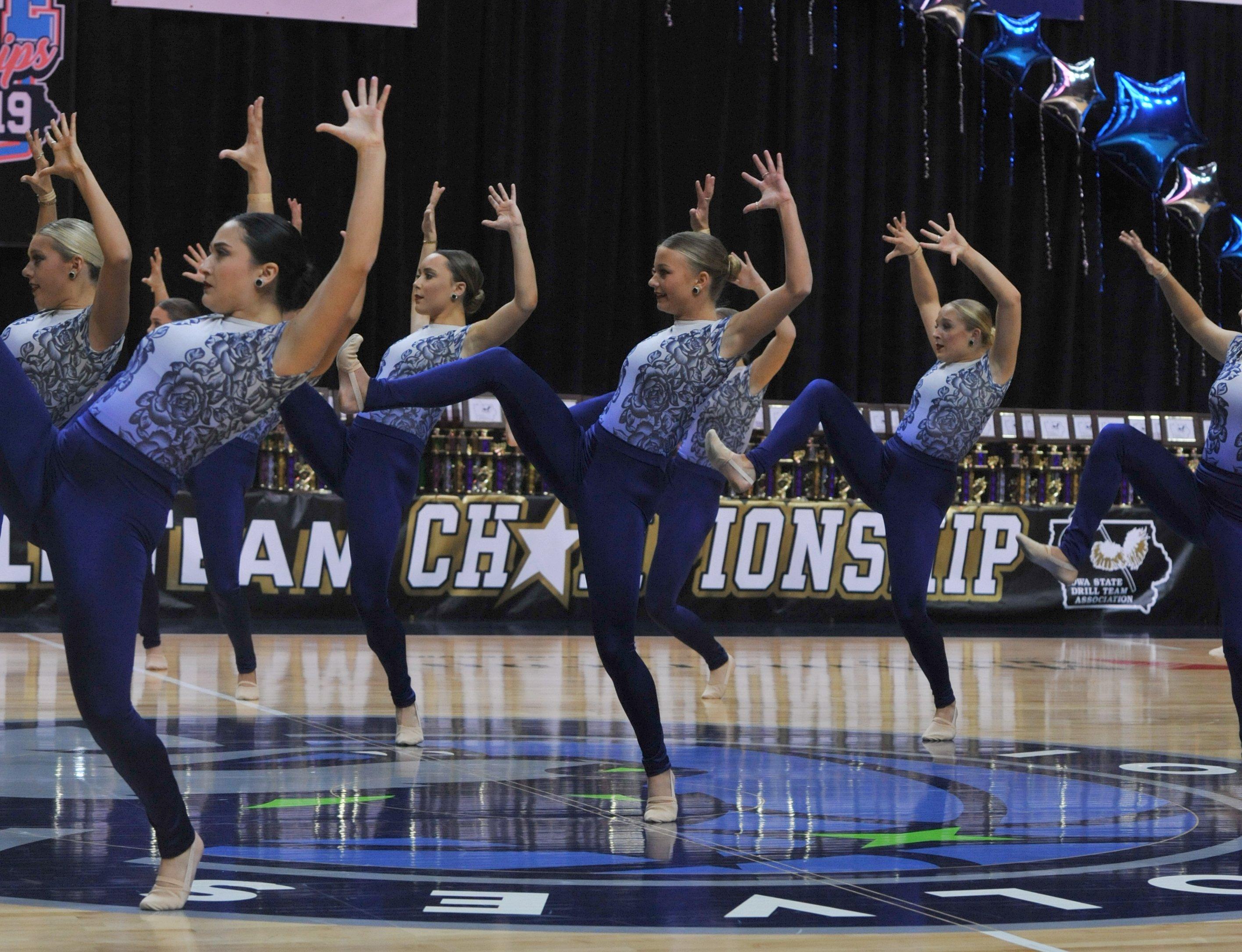 University of Iowa Dance Team Jazz Routine