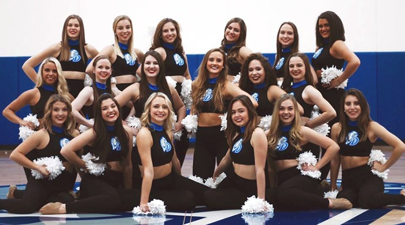 Drake University Dance Team Mock Crop Uniform