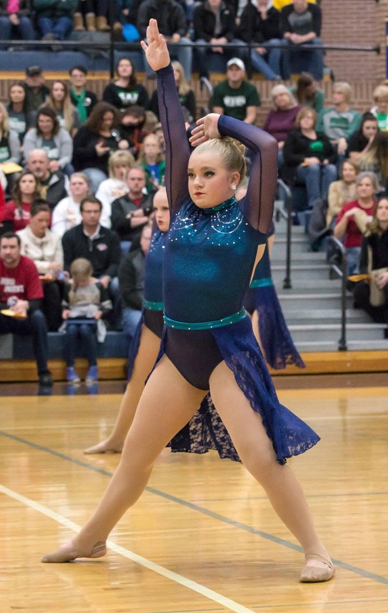 Valley City high school JV dance team custom jazz dance  costume