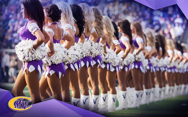 Minnesota Vikings cheerleaders uniforms