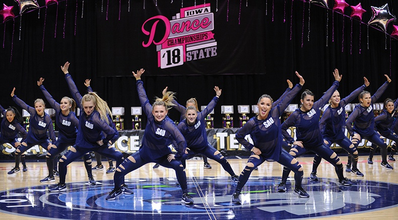 Iowa State Dance Team Competition hip hop