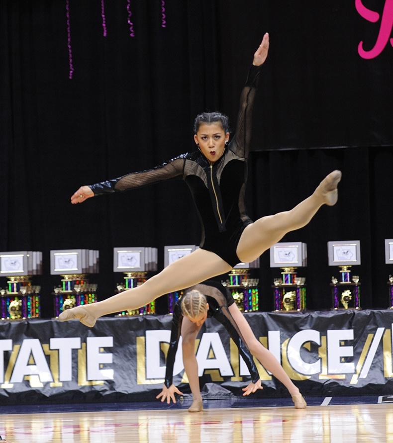 Iowa State Dance Team Competition beyonce dance costume jump