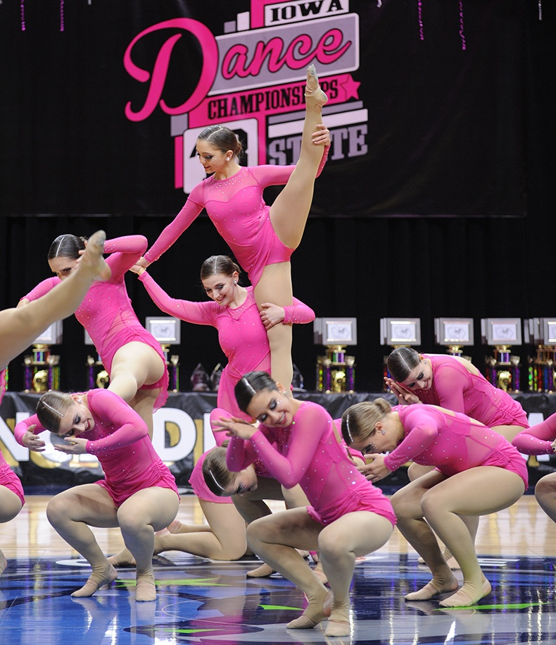 Iowa State Dance Team Competition contemporary dance team