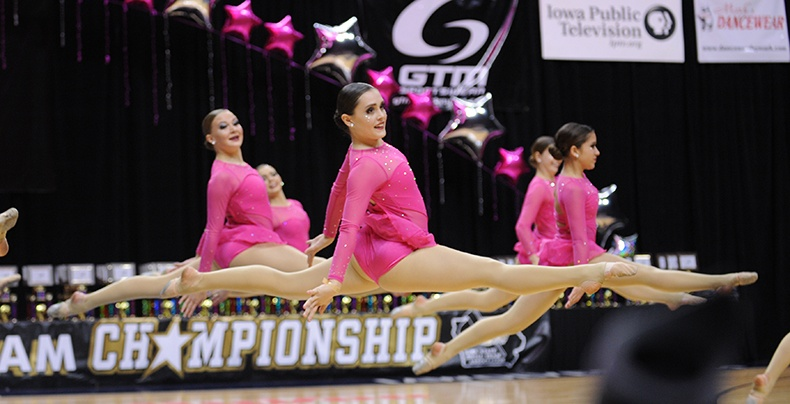 Iowa State Dance Team Competition contemporary dance