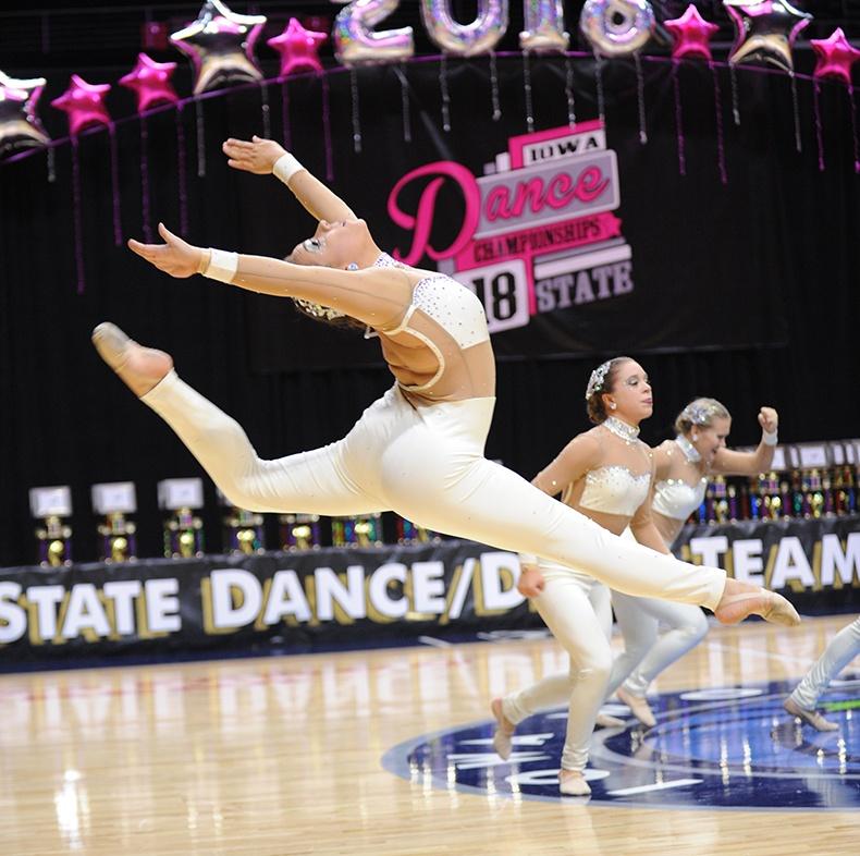 Iowa State Dance Team Competition dance team