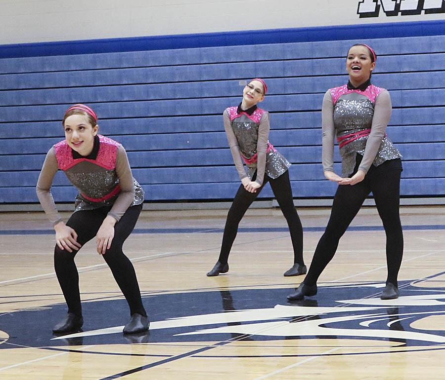 Roseville JV dance team custom high kick uniform