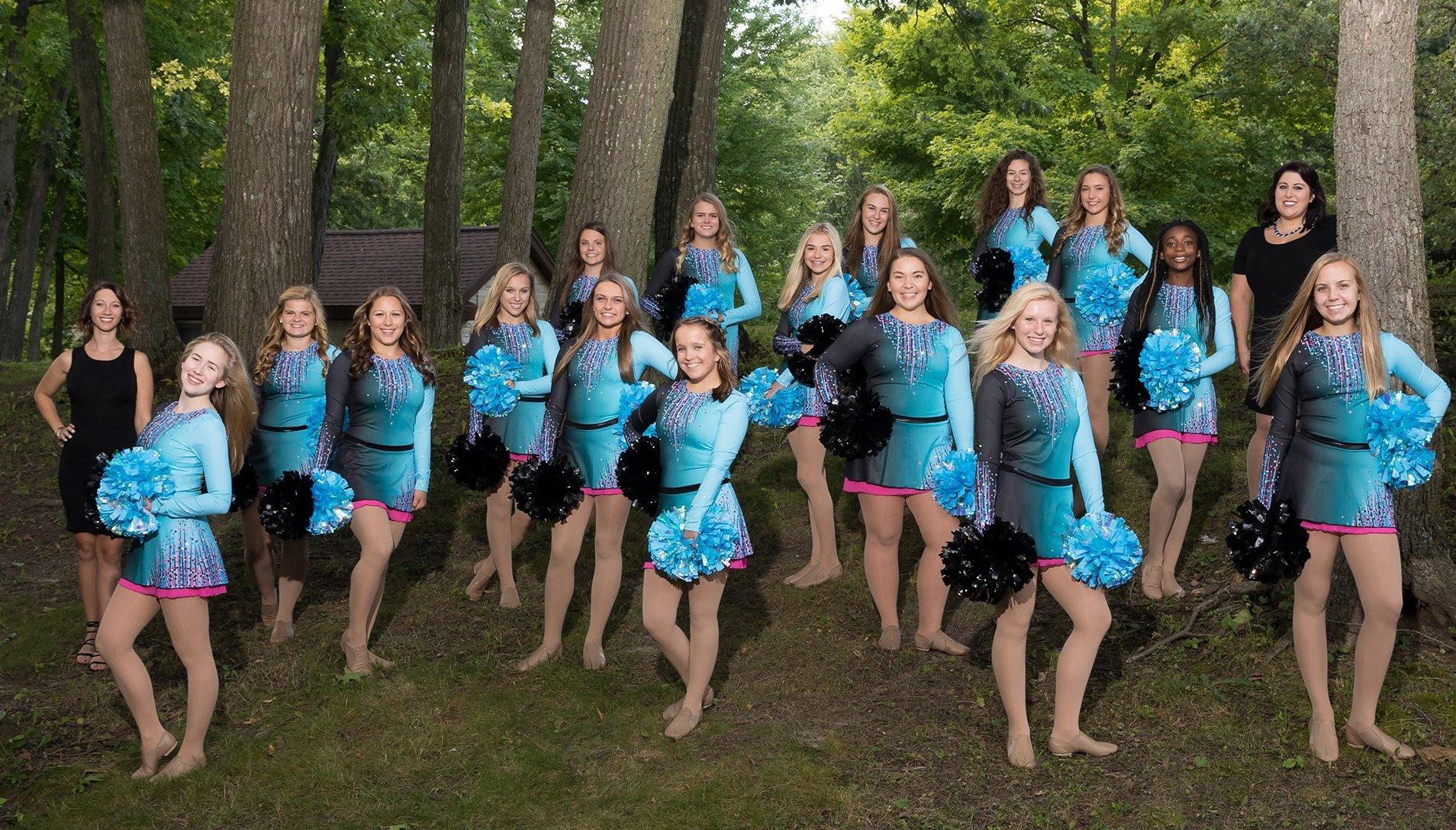 west bend west dance team color change pom uniform