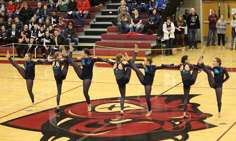 mandan kachinas dance team highkick routine