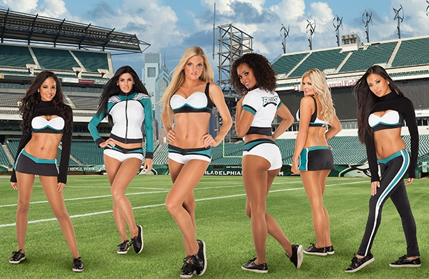 Philadelphia Eagles Cheerleaders Vera Wang looks
