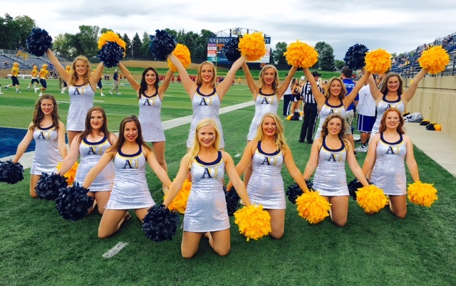Augustana Dance Team in Custom Cheer Uniforms