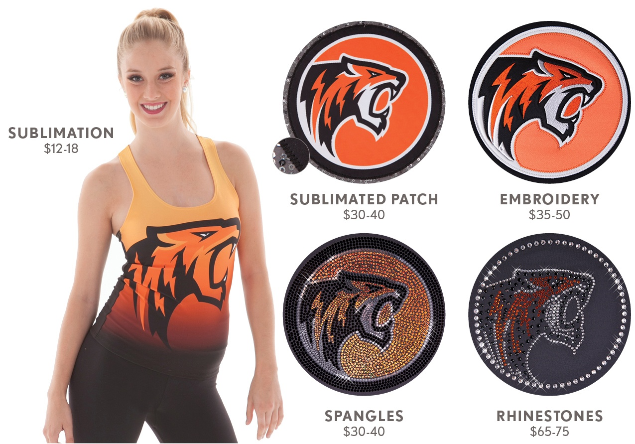 Cheer Uniform Logos - 5 Different Ways to Logo your Cheer Uniform