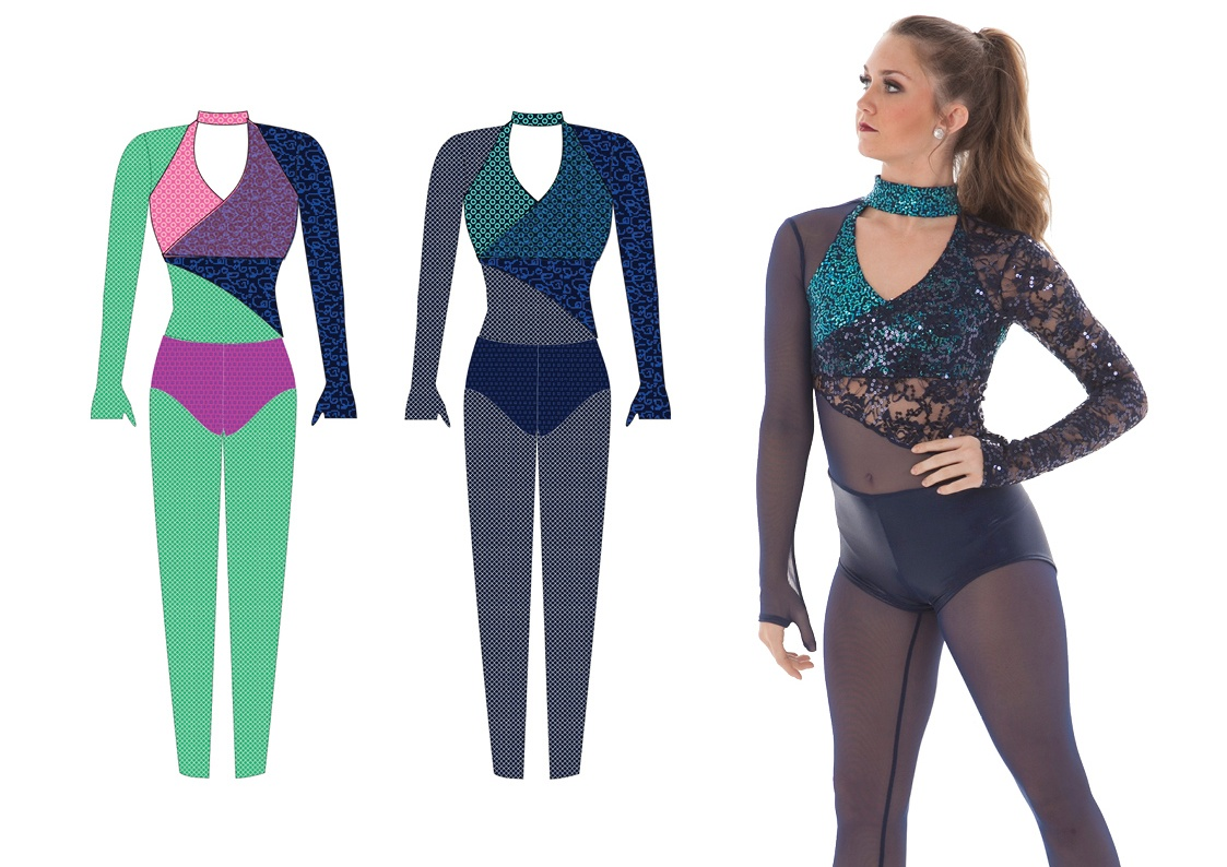 Balanced colors for flattering dance costumes
