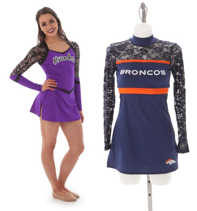 cheer and pom uniform trends: lace