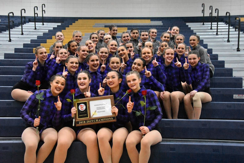Chaska high school dance team
