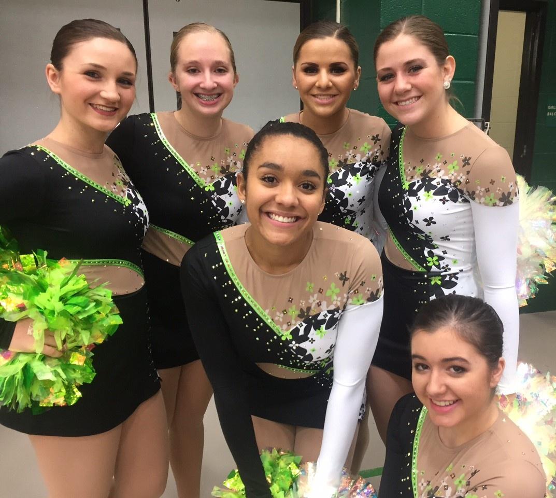 DC Everest High School Dance Team Custom Pom Uniform