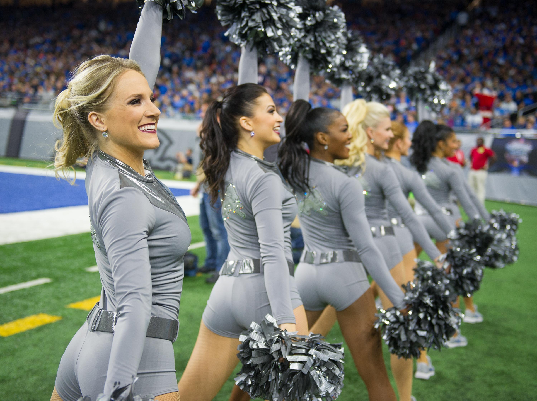 Detroit Lions Cheerleaders Color Rush Uniforms