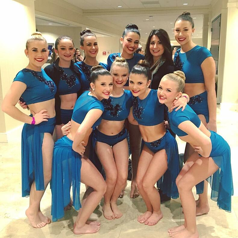 Dance Space Blue Lyrical costume by The Line Up