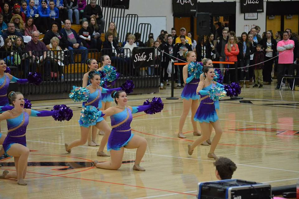 Denmark High School Dance Team Custom Pom Uniform
