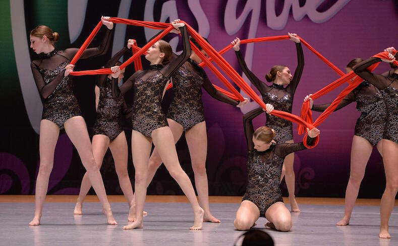 south metro dance academy diamond team fabric prop