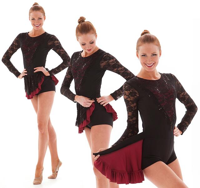 transition dance costume skirt flap