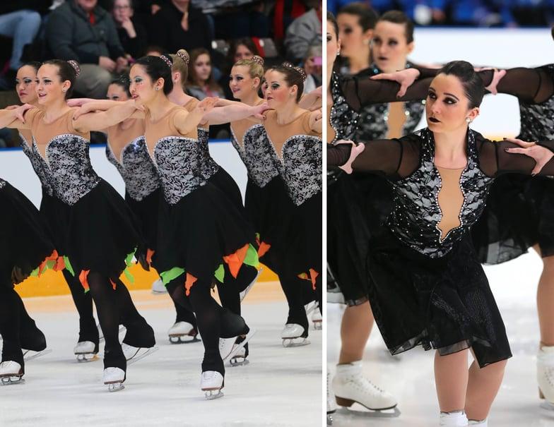 University of Michigan and Miami Univeristy Sychronized skating dresses
