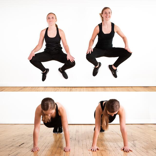 increase dancers jump height and power with burpee excercises
