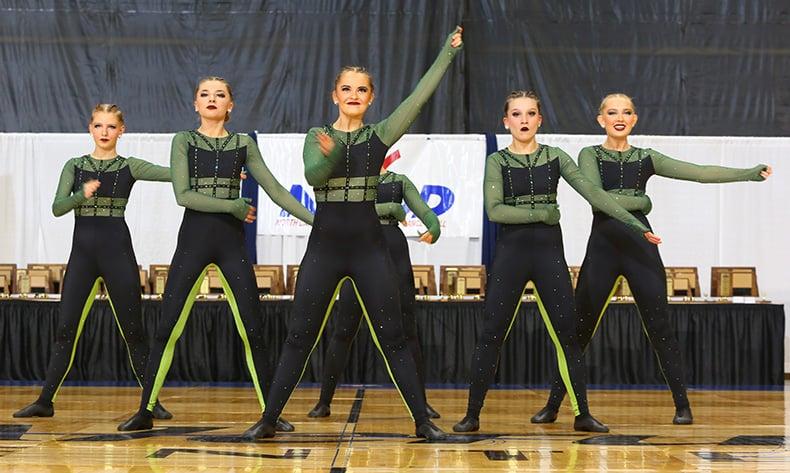 Fargo North HS green unitard