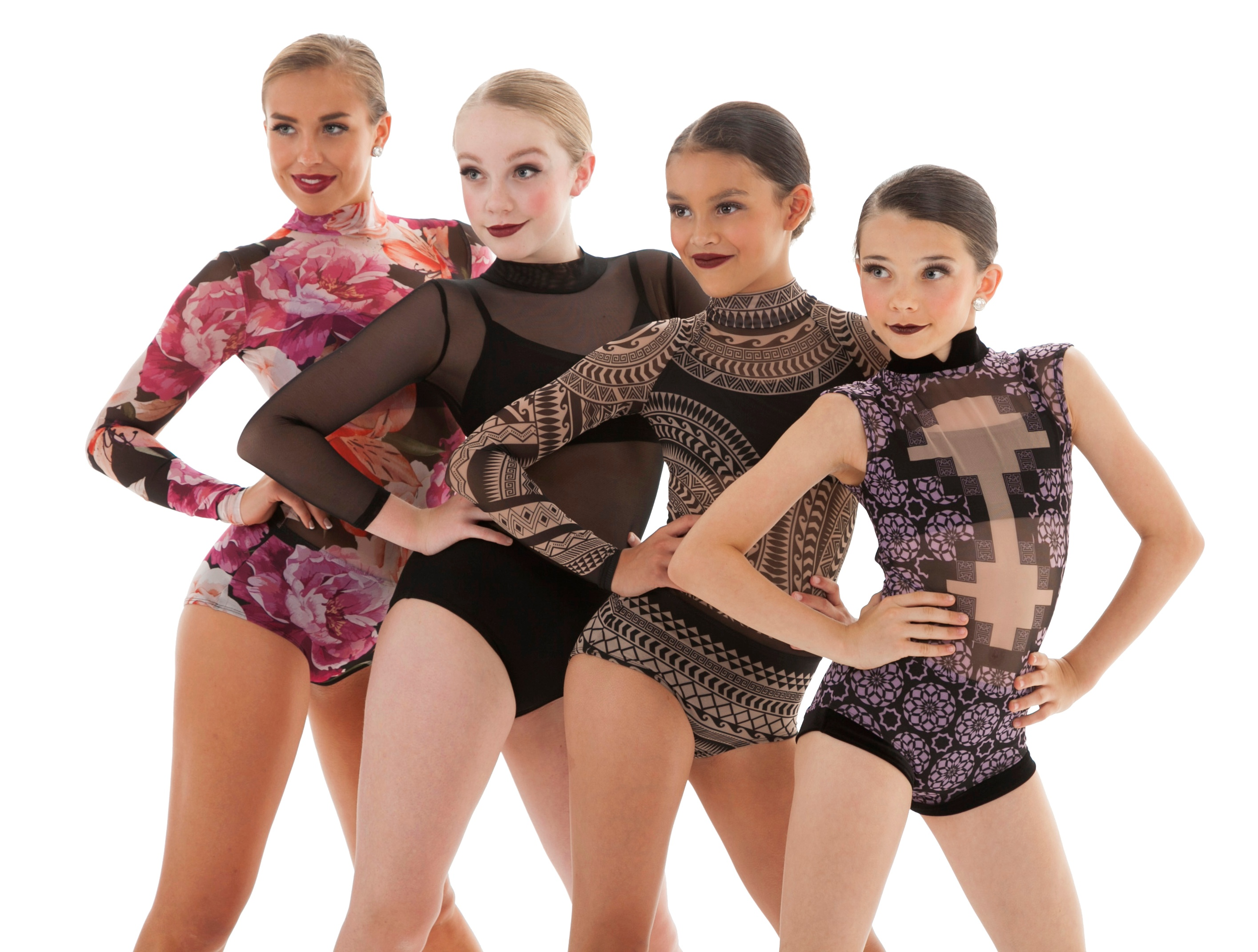 Sublimated Mesh Dance Leotards