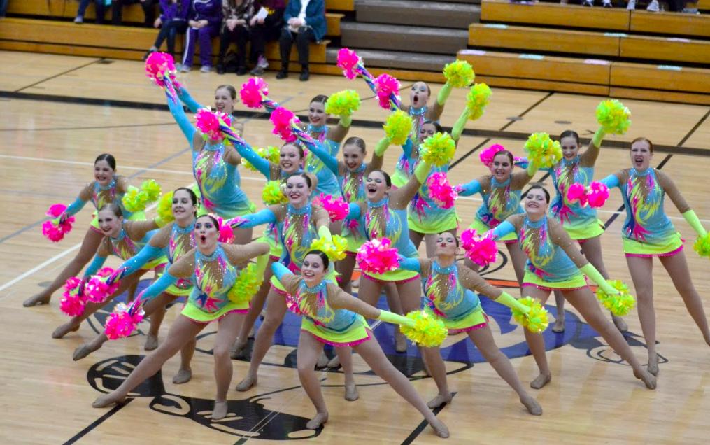 Franklin Dance Team custom pom uniform