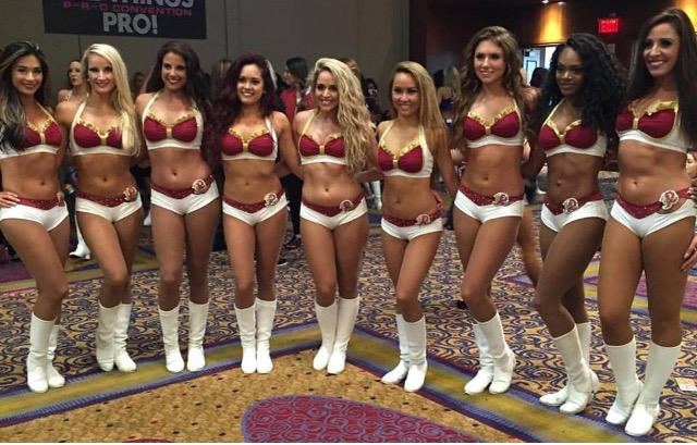 The Washington Redskins Cheerleaders