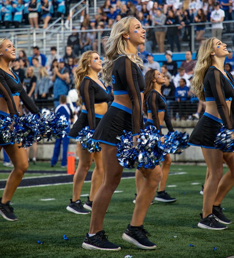 GVSU Laker dance team uniforms