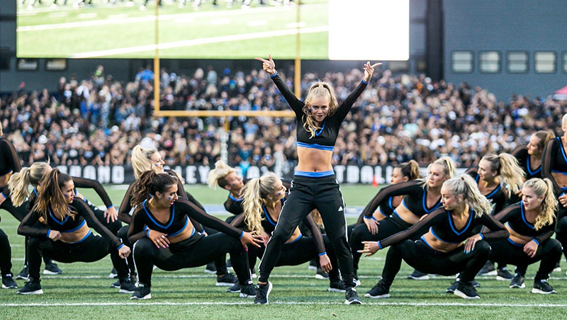 GVSU Laker Dance Team Game Day Look