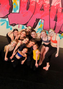 Ali's dance team