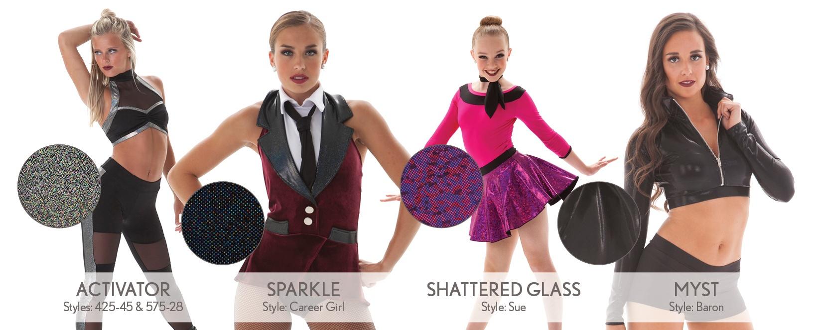 hologram and foils dance costume fabrics