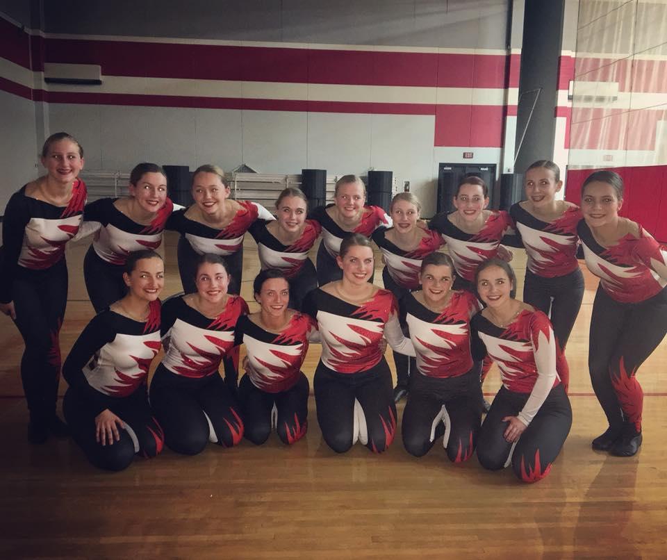 Hortonville dance team custom kick costume