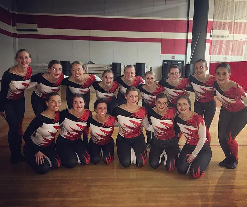 Hortonville dance team custom kick costume