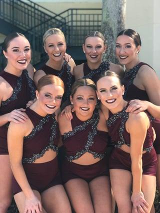 ohio state university dance team at 2018 UDA Jazz
