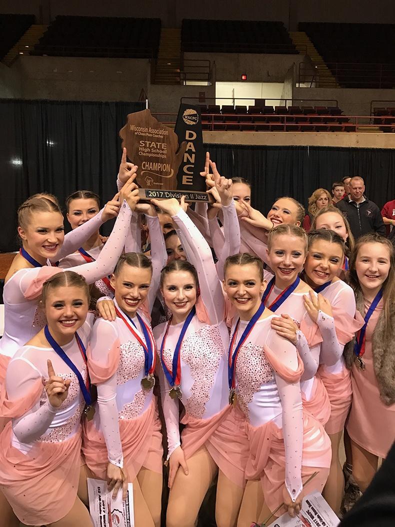 Prescott High School Dance Team at Wisconsin State Jazz Competition
