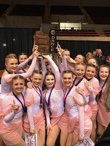 Prescott High School Dance Team at Wisconsin State Jazz Competition