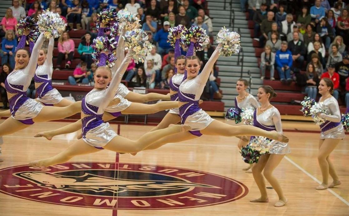 Eau Claire Memorial High School Dance Team Custom Pom Uniform