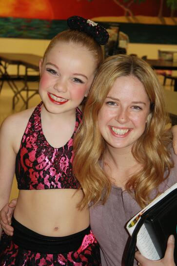 Kate Happe and her first solo choreographer