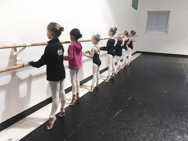 Dance Arts Centre dancers practicing technique