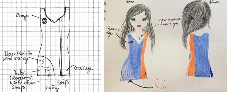 Rostock Seawolves Illustrations for their new Dance Team's Uniforms