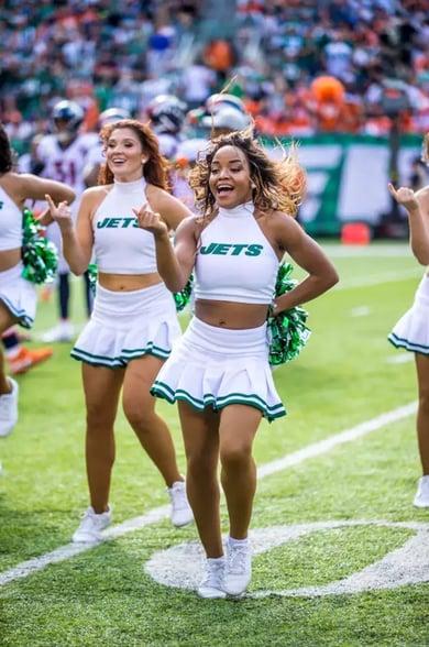 New York Jets Flight Crew throwback look