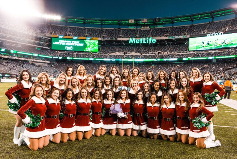 New York Jets Flight Crew holiday attire