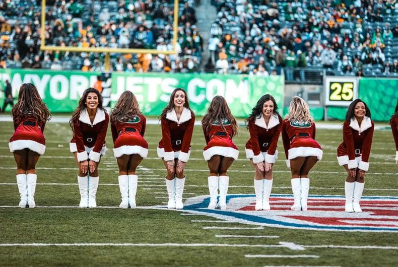New York Jets Flight Crew holiday attire