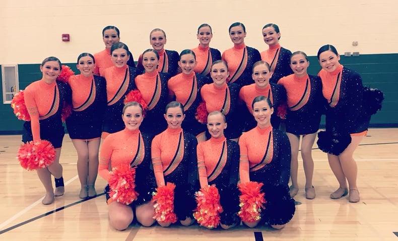 Kaukauna Dance Team Custom Pom Uniform