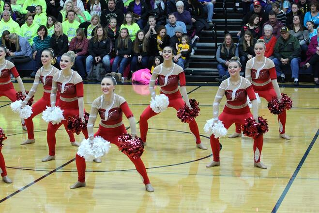 Kimberly High School Dance Team Custom Kick Costume